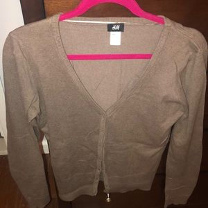 Taupe H&M cardigan size M.